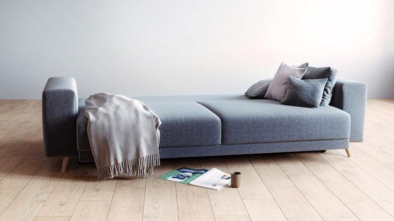 Schlafsofa in Anthrazit in skandinavischem Design